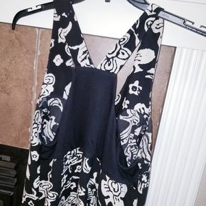 CAbi Dresses - CABI PADMA FLORAL PRINT A LINE RACERBACK DRESS